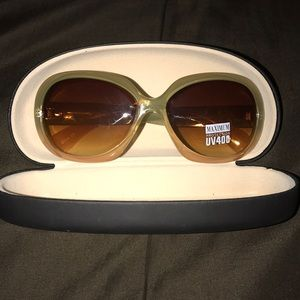 Brand new green and tan sunglasses